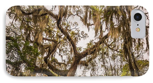 Under The Shade Of A Live Oak - Artistic IPhone Case