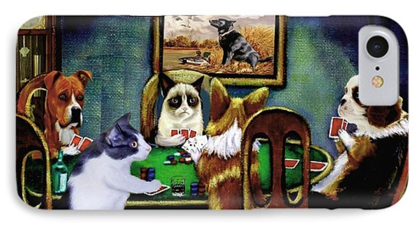 Under The Table IPhone Case by Ron Chambers