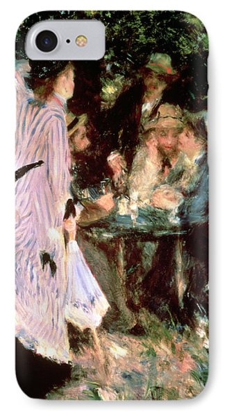 Under The Trees Of The Moulin De La Galette IPhone Case by Pierre Auguste Renoir