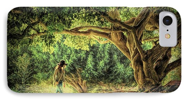 Under The Wise Old Tree IPhone Case by Autumn Moon