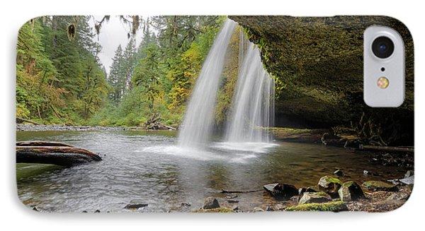 Under Upper Butte Creek Falls In Autumn Phone Case by David Gn