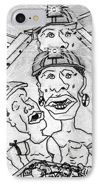 Underground Mine Workers In South Africa IPhone Case