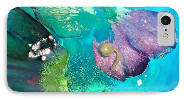 Underwater Flower Abstraction 4 IPhone Case