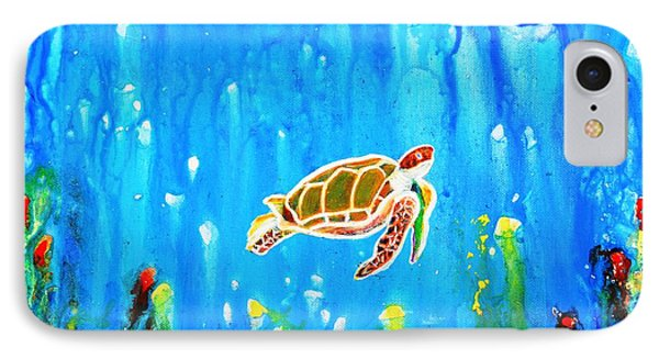 Underwater Magic 5-happy Turtle IPhone Case