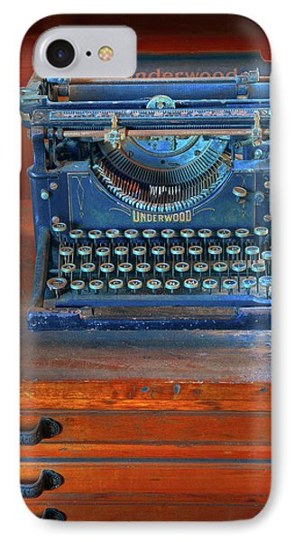 IPhone Case featuring the photograph Underwood Typewriter by Dave Mills