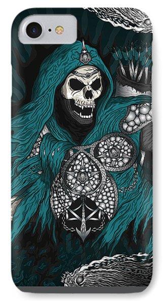IPhone Case featuring the drawing Underworld Archer Of Death by Raphael Lopez