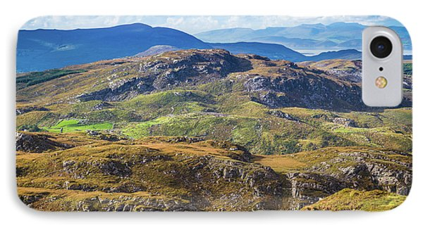 IPhone Case featuring the photograph Undulating Landscape In Kerry In Ireland by Semmick Photo