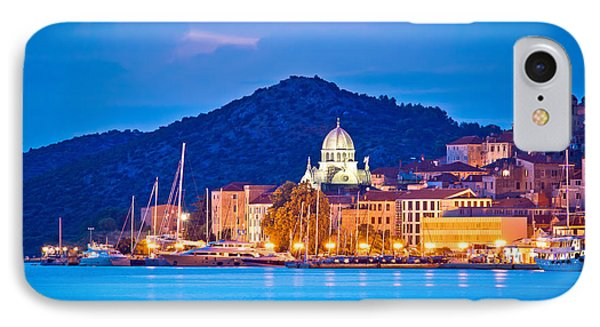 Unesco Town Of Sibenik Blue Hour View IPhone Case by Brch Photography
