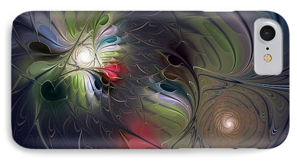 IPhone Case featuring the digital art Unfading by Karin Kuhlmann