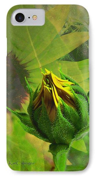 Unfolding Sunflower IPhone Case
