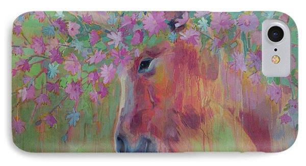 Unicorn iPhone 7 Case - Uni Corn Flower II by Kimberly Santini