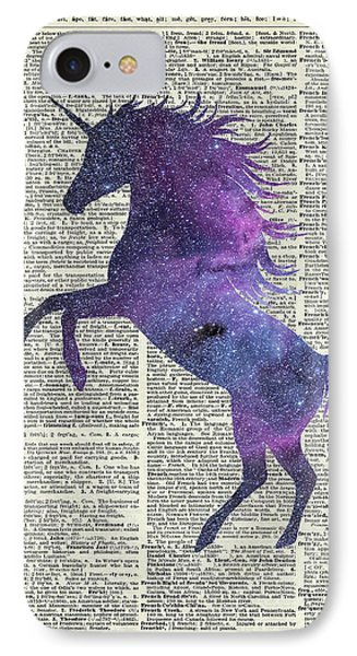 Unicorn In Space IPhone 7 Case