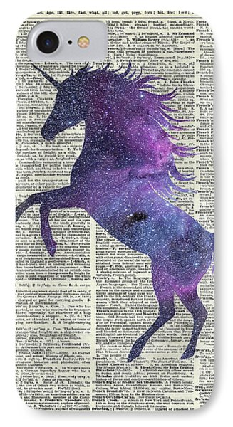 Unicorn In Space IPhone 7 Case by Jacob Kuch