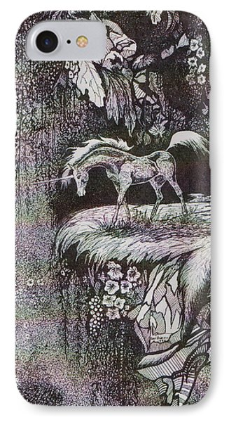 Unicorn IPhone Case by Loxi Sibley