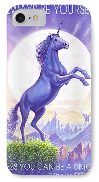 Unicorn Moon Ravens IPhone 7 Case by Steve Crisp