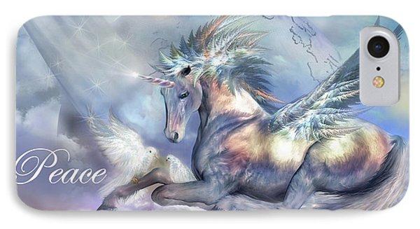 Unicorn Of Peace Card IPhone Case by Carol Cavalaris