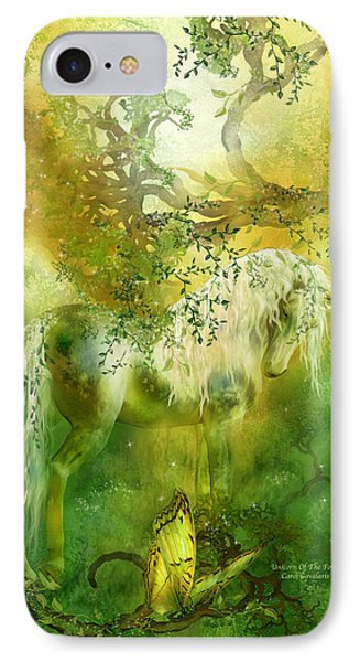 Unicorn Of The Forest  IPhone Case by Carol Cavalaris