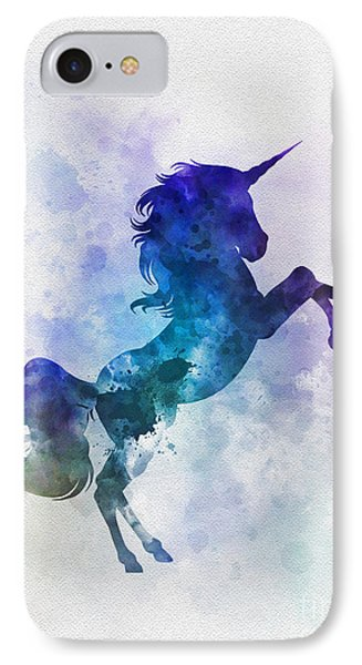 Unicorn IPhone Case by Rebecca Jenkins