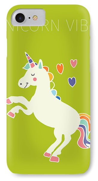 Unicorn Vibes IPhone 7 Case by Nicole Wilson