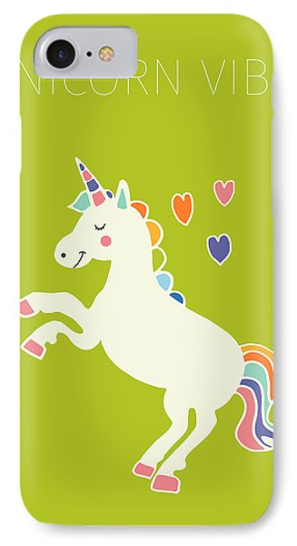 Unicorn Vibes IPhone Case by Nicole Wilson