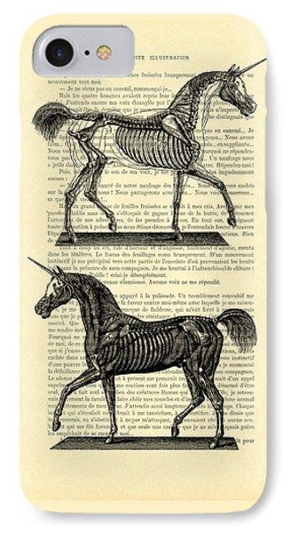 Unicorns Anatomy IPhone 7 Case by Madame Memento
