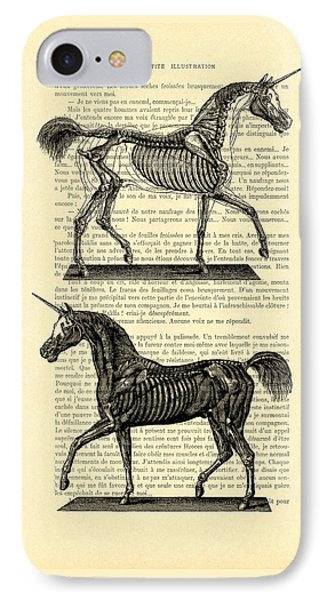 Unicorns Anatomy IPhone Case by Madame Memento