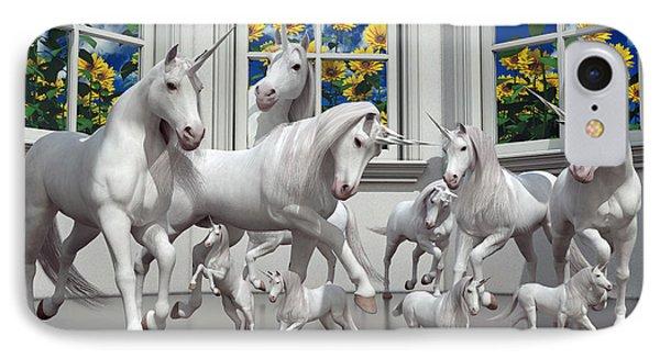 Unicorns IPhone 7 Case by Betsy Knapp