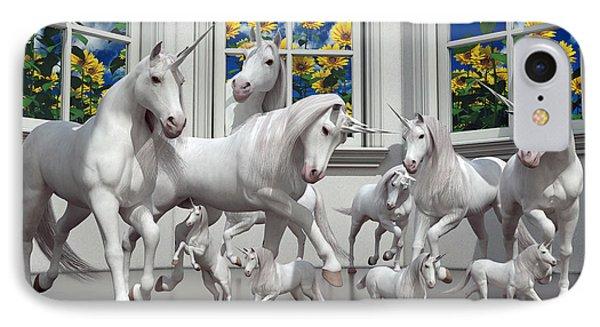 Unicorns IPhone Case by Betsy Knapp