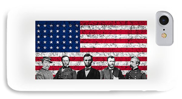 Union Heroes And The American Flag Phone Case by War Is Hell Store
