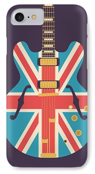 Union Jack Guitar - Alt Black IPhone Case by Ivan Krpan