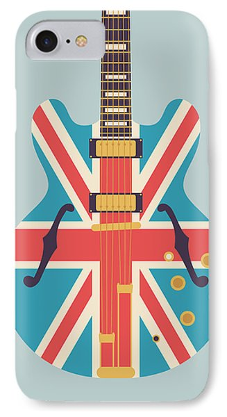 Union Jack Guitar - Alt Grey IPhone Case by Ivan Krpan