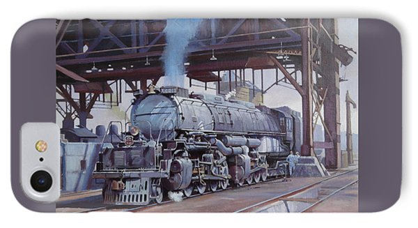 IPhone Case featuring the painting Union Pacific Big Boy by Mike  Jeffries