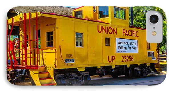 Union Pacific Caboose IPhone Case by Garry Gay