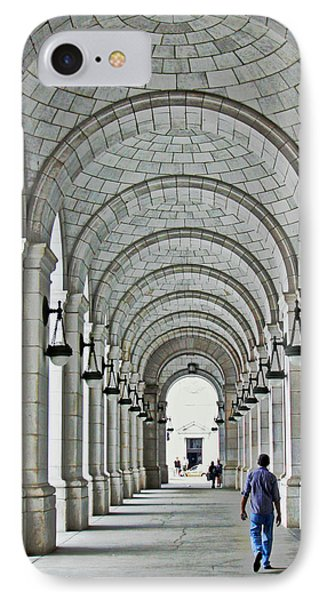 IPhone Case featuring the photograph Union Station Exterior Archway by Suzanne Stout