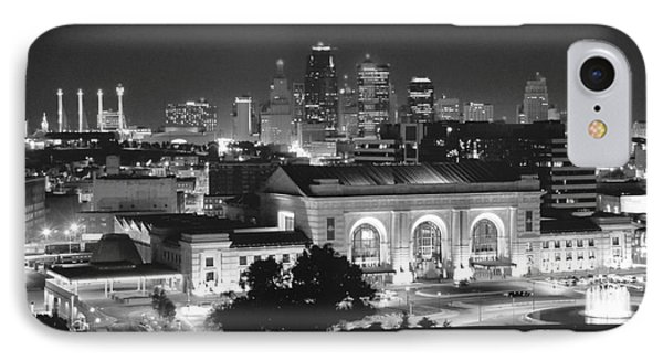 Union Station In Black And White IPhone Case by Crystal Nederman