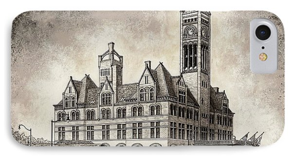 Union Station Mixed Media IPhone Case