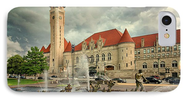 Union Station St Louis Color Dsc00422 IPhone Case by Greg Kluempers