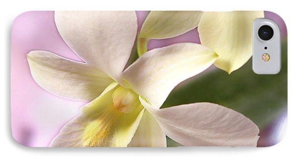 Unique White Orchid Phone Case by Mike McGlothlen