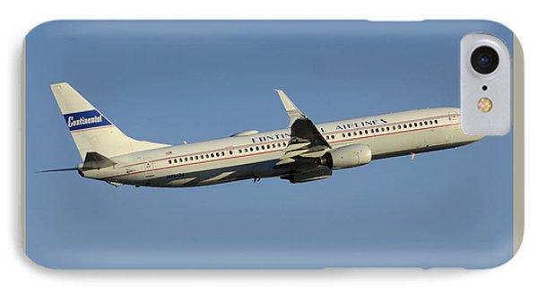 United Boeing 737-924 N75436 Retro Continental Phoenix Sky Harbor December 9 2015 Phone Case by Brian Lockett