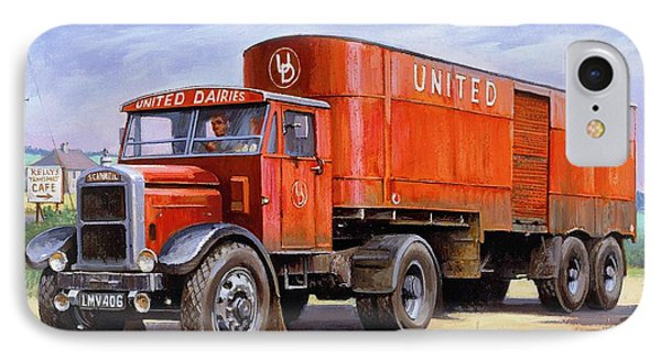 United Dairies Scammell. IPhone Case