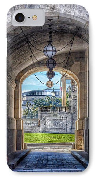 United States Capitol - Archway IPhone Case by Marianna Mills