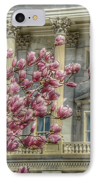 United States Capitol - Magnolia Tree IPhone Case by Marianna Mills