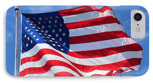 IPhone Case featuring the photograph United States Flag by Elizabeth Budd