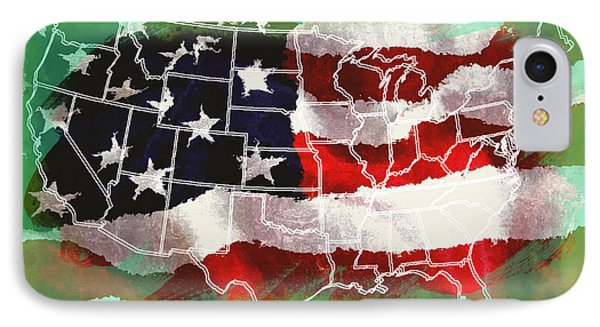 United States Flag Map IPhone Case
