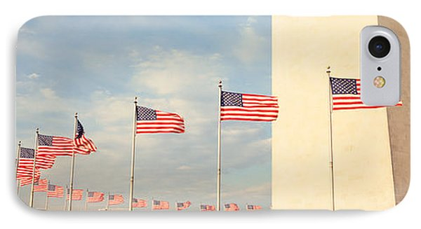 United States Flags At The Base IPhone Case by Panoramic Images