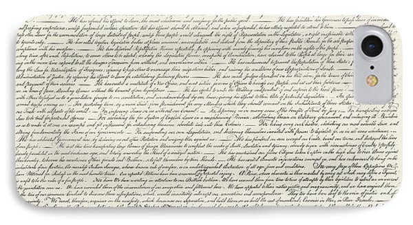 United Statesthe Declaration Of Independence IPhone Case by MotionAge Designs
