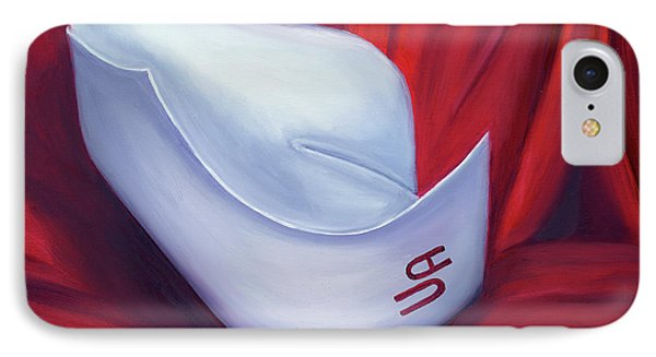 IPhone Case featuring the painting University Of Alabama School Of Nursing by Marlyn Boyd