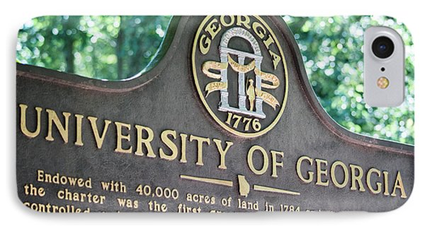 IPhone Case featuring the photograph University Of Georgia Sign by Parker Cunningham