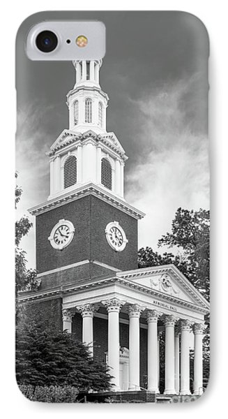 University Of Kentucky Memorial Hall Phone Case by University Icons