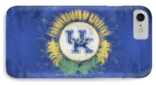 IPhone 7 Case featuring the digital art University Of Kentucky State Flag by JC Findley